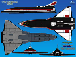 Thunderbird 1 (TB-1) Advance Space Shuttle by haryopanji