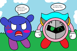 What if Kirby took all of Meta Knight's stuff? by PenelopeHamuChan