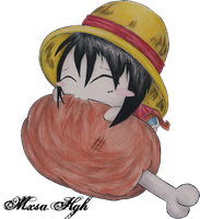 Monkey D. Luffy *Loves MEAT* by GolDAse