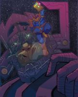Thanos and Galactus by JeremyTreece