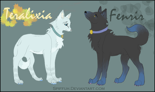 Teralixia and Fenrir by Spiffuh