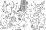 Eternals Inc 'New Blood' finished lineart by EryckWebbGraphics
