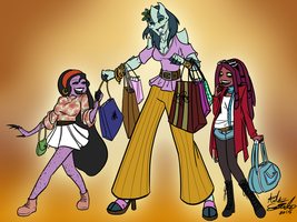 Commission- Shopping Day by R2ninjaturtle