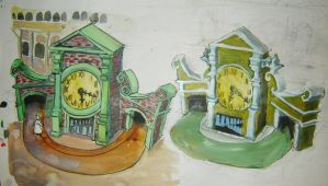 2 clock towers designs by Chevic