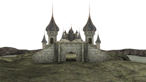 3d Fantasy Castle Stock Parts #3 land and kingdom by madetobeunique