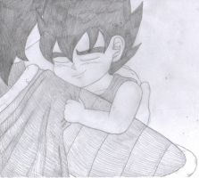 Baby Vegeta and his mum by gothgirl9678