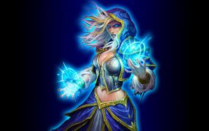 Hearthstone Wallpaper - Jaina v2 by mgbeach