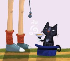 Hickty-Pickty the black cat by okolo