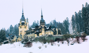 Peles Castle in the winter by Dana-Gh