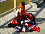 Queen of Hearts with cards by SaraDarkLight