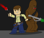 Lego Han and Chewie by TateShaw