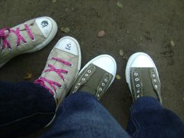 Converse and Girbaud by hersheys-lyrem