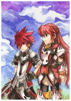 Elsword and Elesis by Miimiya