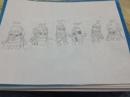 The Minions as Frozen Characters Sketch by DanielaEspinoza19