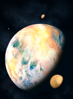 Kepler's Discovery: Super Earth by ValentiniaK
