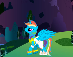 Alicorn Rainbow Dash by LukeVharr