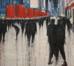 Together we are many, 200x180cm, oil o by lesley-oldaker
