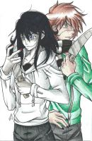 Jeff the Killer and Homicidal Liu by MionOfDeath