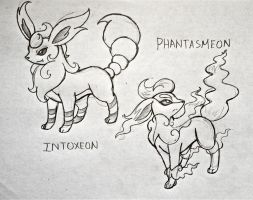 Project Fakemon: Intoxeon and Phantasmeon by XXD17