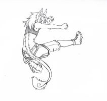 Power Kick Lineart by BlysseRei