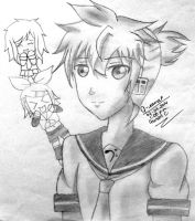 Another Len Drawing by MistressSimple