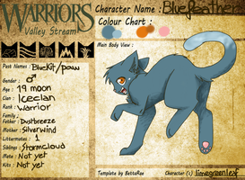 Bluefeather ref.sheet by limegreenleaf