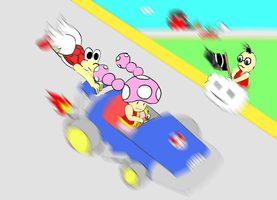 MKDD Toadette and Daize by Mloun