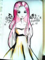 Fluttershy as a human by dotty99212