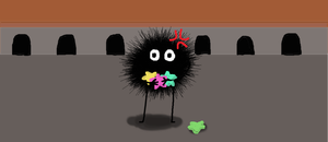 Hungry Soot Sprite by Dot-Desperation