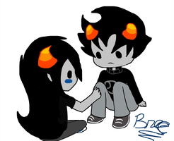Karkat...imma touch your leg by GravityFallsLuver