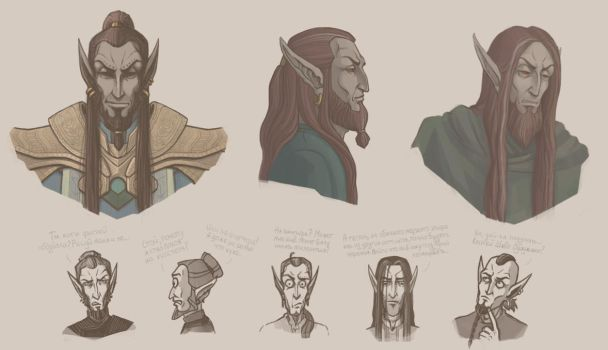 TES OC sketches by LAAMDT