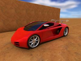 3D Sports Car Mid-engine by Stevep67