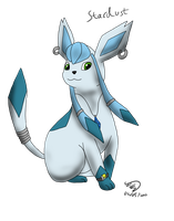 Stardust the Sub-Glaceon by Threehorn