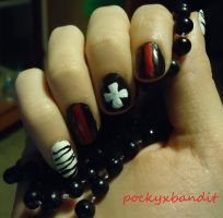 Knuckle Inspired Nail Art by pockyXbandit