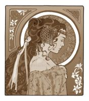 Antiqued Art Nouveau Padme by hriviel