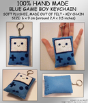 Hand Made Blue GAMEBOY Keychain by izka197