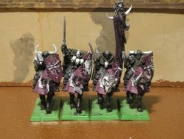 Chaos Knights of Slaanesh by gowsk