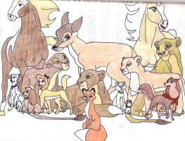 Female Animals of Disney by DJFireHawk