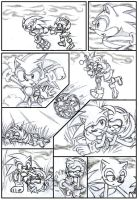 Sonic and Amy playing by ArisuAmyFan
