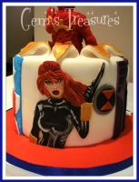 Black Widow Cake Panel by gertygetsgangster