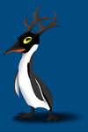 Penguin with horns by Mimi-fox