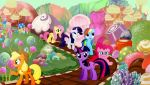 Mane 6 In Candyland by Macgrubor