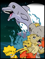 redraw: Curse of the Dolphin by toongrowner