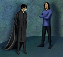 Spock vs. Snape by Psee