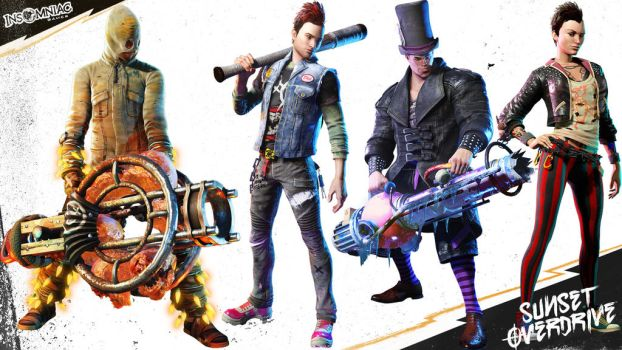 Sunset Overdrive Characters by GavinGoulden