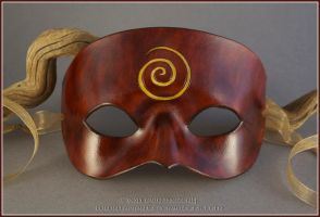 Spiral Symbol leather mask by EirewolfCreations
