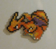 Charizard - Bead Sprite Magnet by JiFish