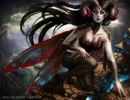 Aries - 2016 Fae Zodiac Calendar by Enchantress-LeLe