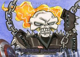 Captain America, The Winter Soldier - Ghost Rider by 10th-letter