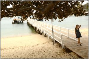 Peach - wharf and tree 1 by wildplaces